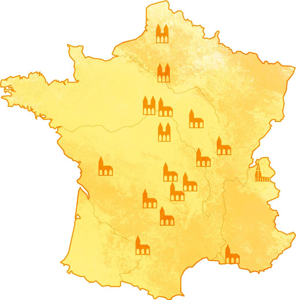 Carte sites CASA